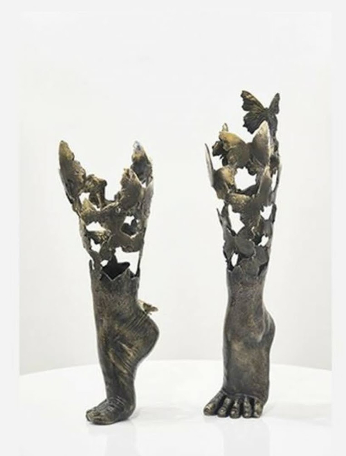 Annalù Boeretto - Flyingfeet (2021) - Scultura in bronzo